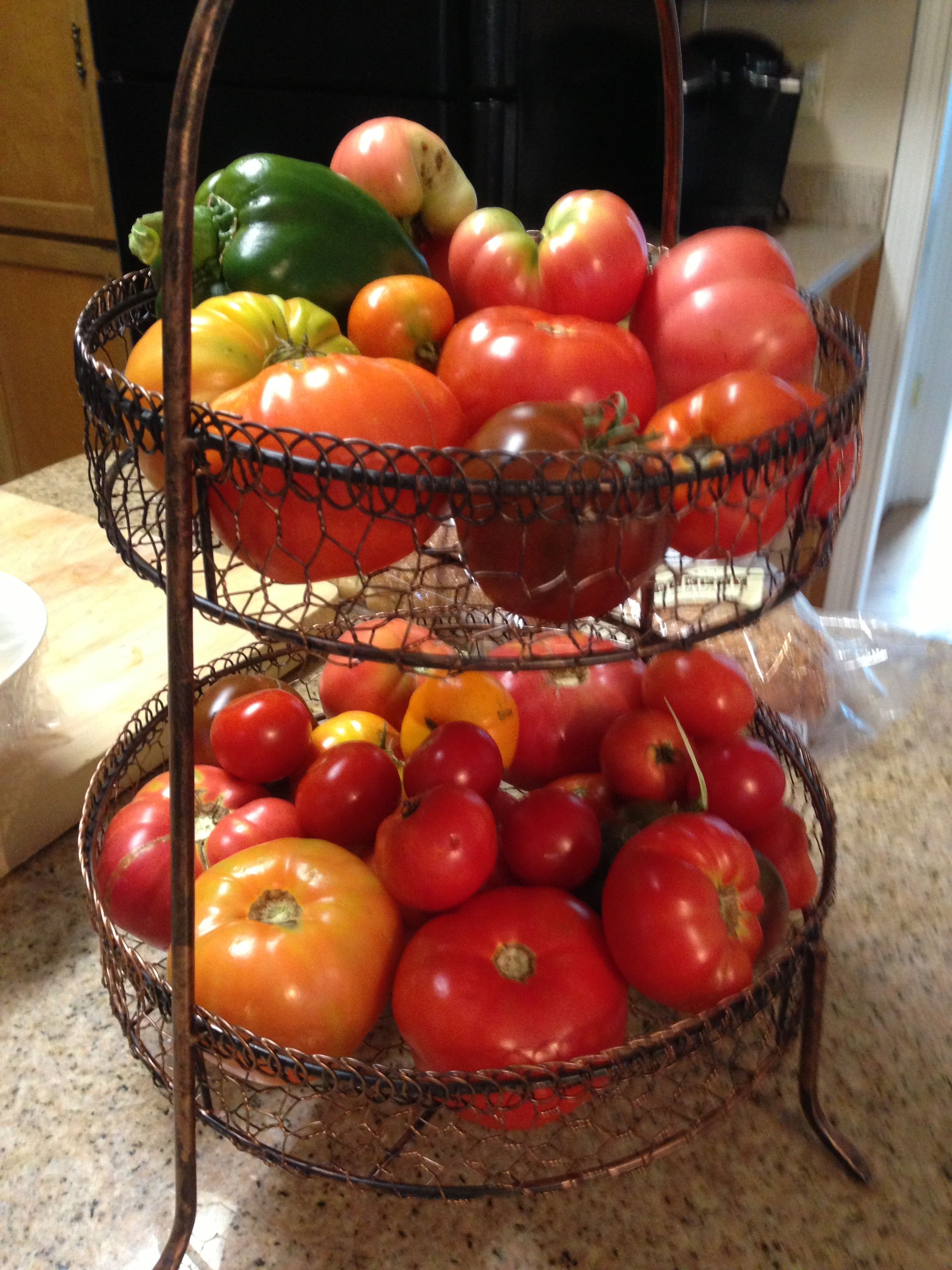 Home grown, Organic, Heirloom tomatoes & peppers